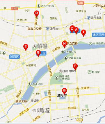 5,隋唐城遗址植物园    乘车路线:洛阳火车站乘62路可达,到隋唐